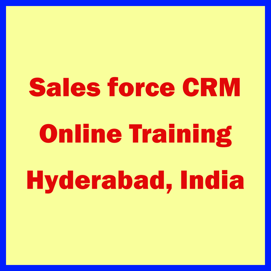 Salesforce CRM Admin Developer Training program and Certification